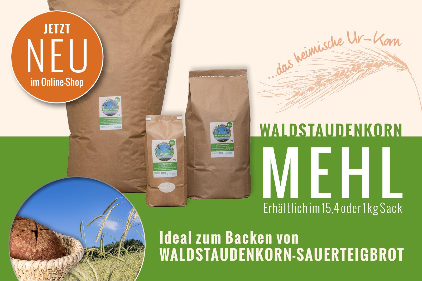 Neu im Shop: Waldstaudenkorn MEHL