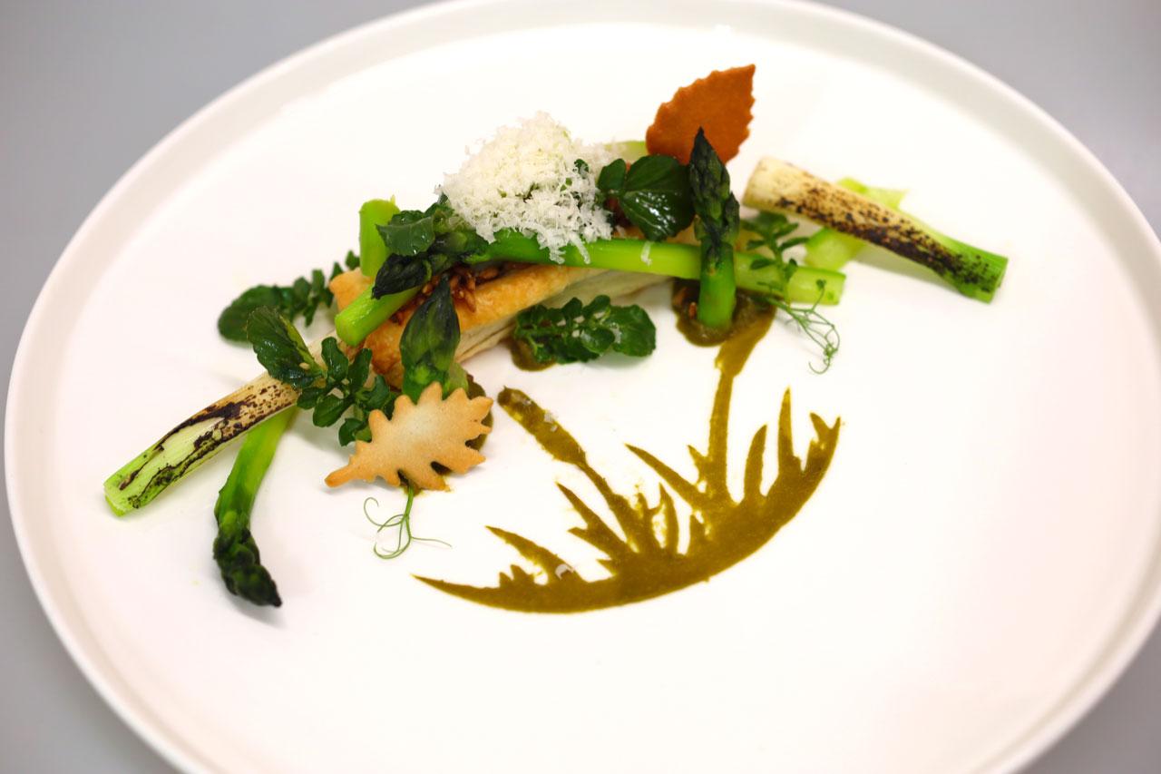 Walstaudenkorn Risotto mit Grünem Spargel